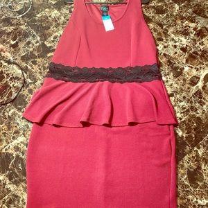 Plus size Rue21 peplum dress